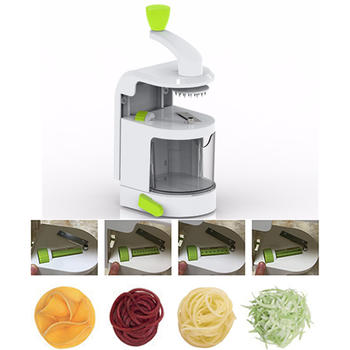 Spiral Slicer With Suction Base,Vegetable Spiralizer itemprop=