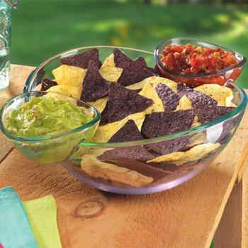 Chip and Dip Bowl Salad Bowl Snack Bowl Set itemprop =