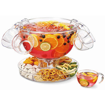 Multifunctionele Punch Bowl Met Vier Punch Cups itemprop =
