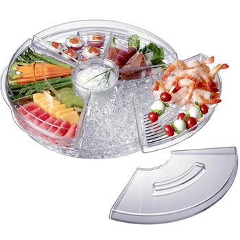 Gekookte Appetizer Server Met Ice Tray itemprop =