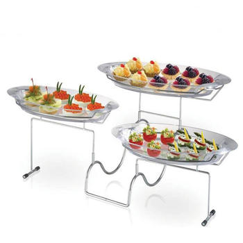 3-Tier Blossom Dessert Tray, cake stand wedding plastic tray itemprop =