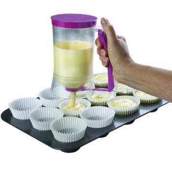 Cake Beslag dispenser met meetlat itemprop =