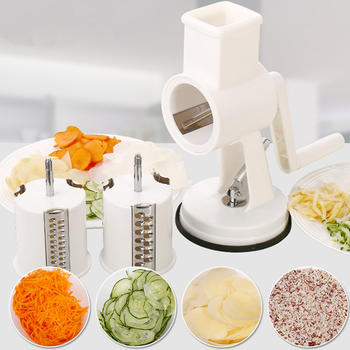 Rotary Drum Groentekraam Slicer Cheese Grater Cutter Shredder Grinder itemprop =