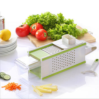 5 In 1 Vegetable Slicer, kitchen Veggies Grater with storage container itemprop=