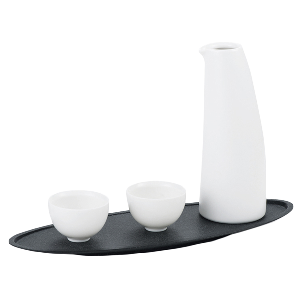 Wit Keramiek Sake Bottle Set, Keramiek Wyn Pot, Porselein Sake Set Met 2 Cups
