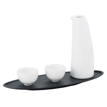 Wit Keramiek Sake Bottle Set, Keramiek Wyn Pot, Porselein Sake Set Met 2 Cups itemprop =
