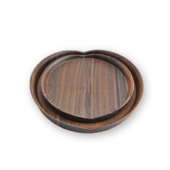 Træservantbakke, Sort Walnut Food Serving Tray, Dekorativ bakke itemprop =