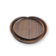 Wood Serving Tray, Swart Walnut Food Serving Tray, Dekoratiewe Laai