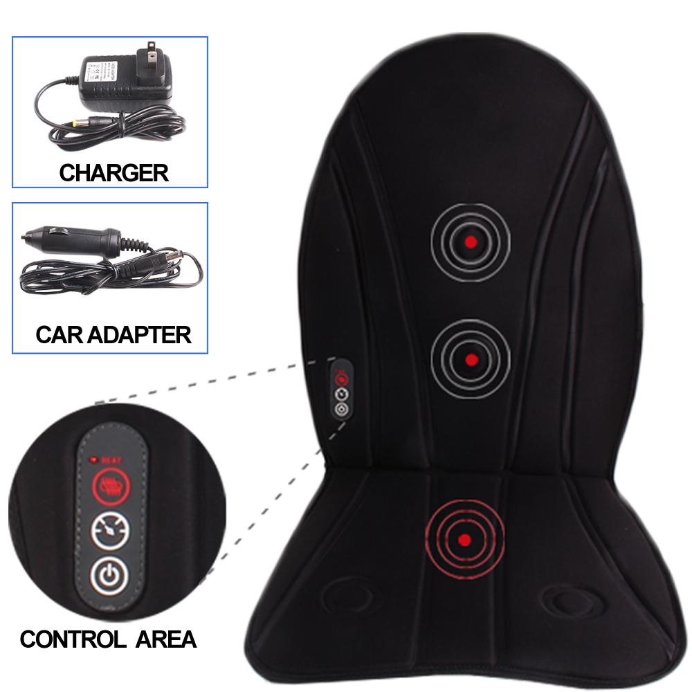Electric Heated Seat Cushion Massager Car Seat Back Massage
