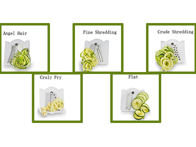 5-blade vegetable spiral slicer