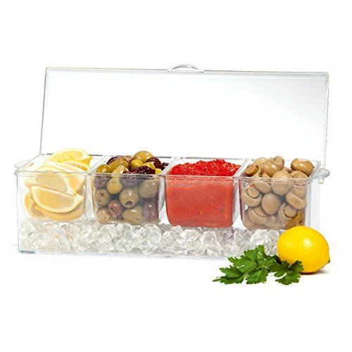 4 em 1 Removable Chilled Condiment Server On Ice