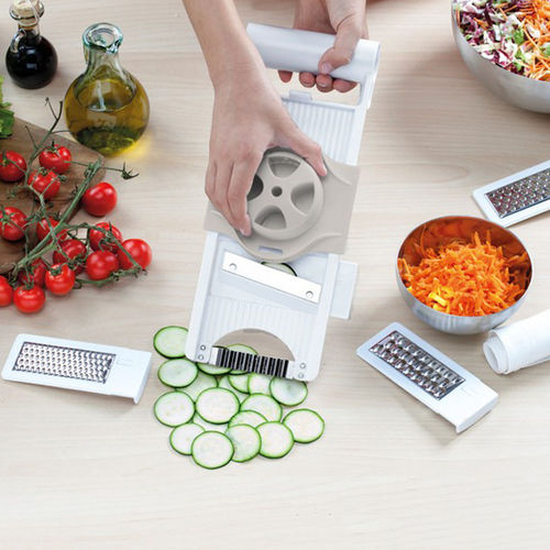 4 i 1 Justerbar Mandolin Skiver, Food Chopper Mandolin Skiver Grater Set