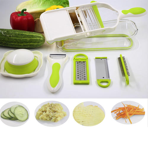 5 In 1 Mandoline Slicer With Storage Box, Vegetable Slicer