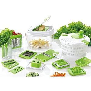Multifunctional Salad Spinner With Mandoline Slicer And Chopper