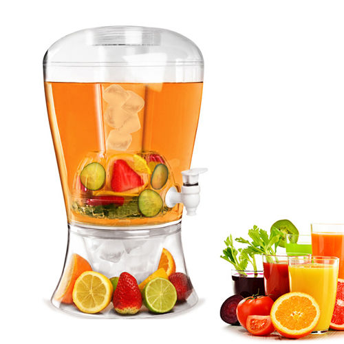 Plastic 2 Gallon drank dispenser met infuser