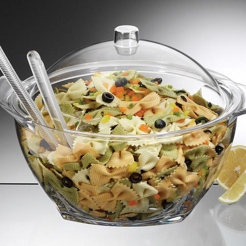 Iced Salad Bowl Chilled salad bowl on ice with lid