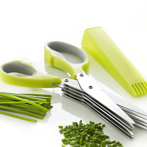 Herb scissors-5 blade shredder cutting vegetables scissors