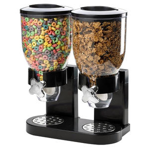 Multifunctional Double Bulk Dry Food Cereal Dispenser