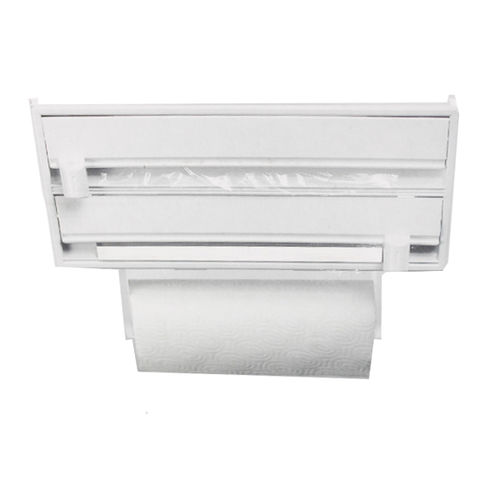 Wall-Mount Paper Holder Towel Plastic Wrap and Dispenser Foil