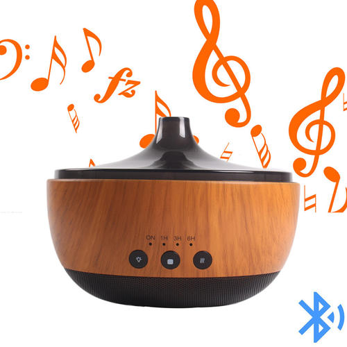 Bluetooth Wood Grain Aroma Essential Oil Diffuser Humidifier,Bluetooth Music Player