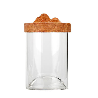 Bamboo Lid Glass Tea Cup, Glass Mug dengan tutup, Water Cup, Coffee Cup