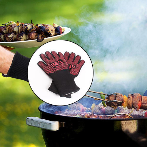 BBQ gloves grill oven heat resistant barbecue gloves baking heat proof grill mitts accessories