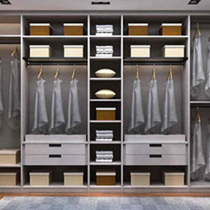 Custom standing coat closet design