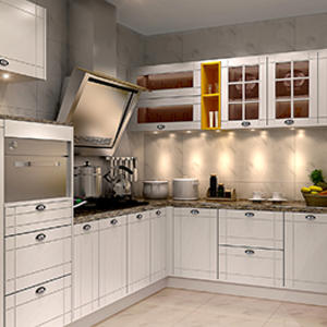 Custom pm-300 Leipzig kitchen cabinet set manufacturer