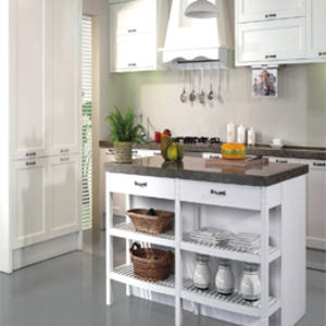 Custom white kitchen cabinet design