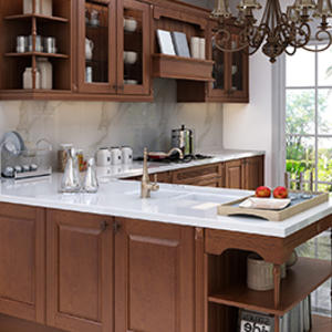 Custom solid wood kitchen cabinet manufacturer