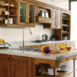High-end wooden kitchen cabinet manufacturer