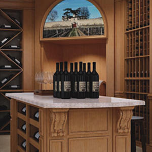 SA-8002 Chateau Margaux wooden wine rack manufacturer,high quality wine cellar