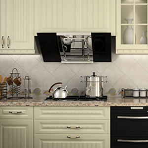 High-end white kitchen units design