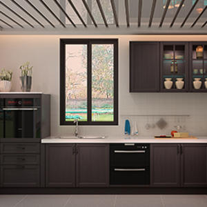 High-end oak kitchen cabinet design