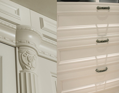 Segovia white bedroom wardrobe