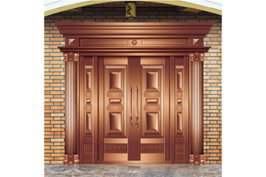 custom-made Double french door,Copper Door, preferred BuilDec, experienced