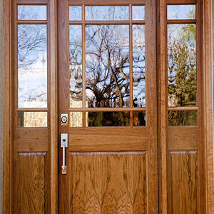 high quality exterior doors with glass, solid wood door, preferred BuilDec