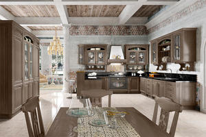 oak kitchen with a low price,provide a range of customized kitchen.