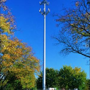 Telecommunication Steel Galvanized Antenna Mono Pole