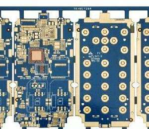2L 0.5mm FR4 blue Keyboard immersion gold PCB board