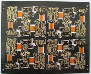 fab 12L rigid-flex printed circuit board black gold-thickness2um 3-3mil