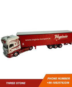 Diecast truck and tractor with trailer model