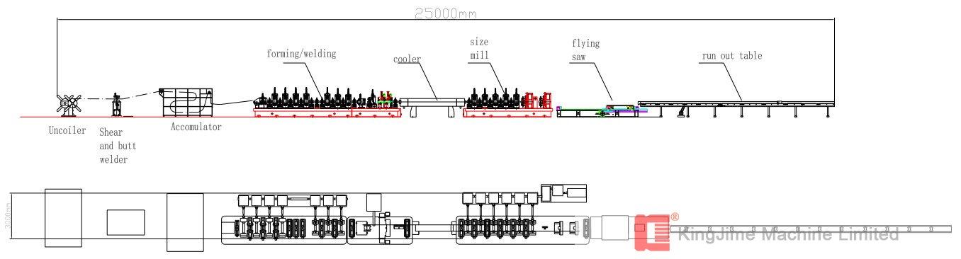 seamless tube making machine(Dia 7-38mm)
