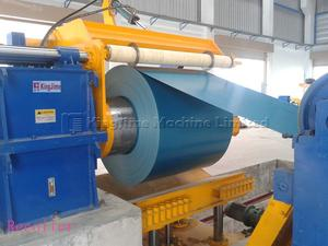 recoiler afer steel coil uncoil line