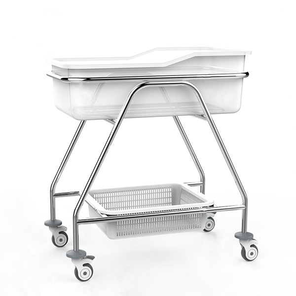 BPM-iB02 Stainless Steel Hospital baby cart