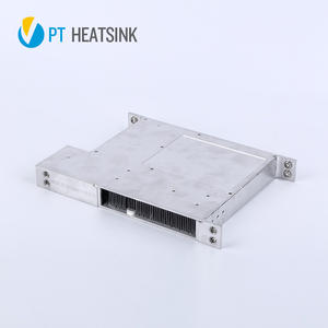 Folded fin heat sinks-bonded fin heatsinks