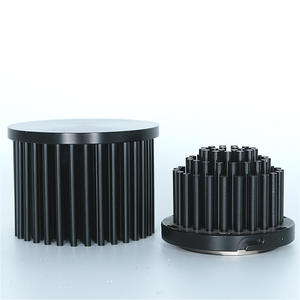 Anodized Aluminum Round Fin Cold Forged Heat Sinks