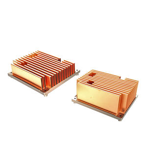 Customer Copper Folded Fin Heat Sinks With Heatpipe