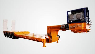 Horizontal expansion low bed semi trailer