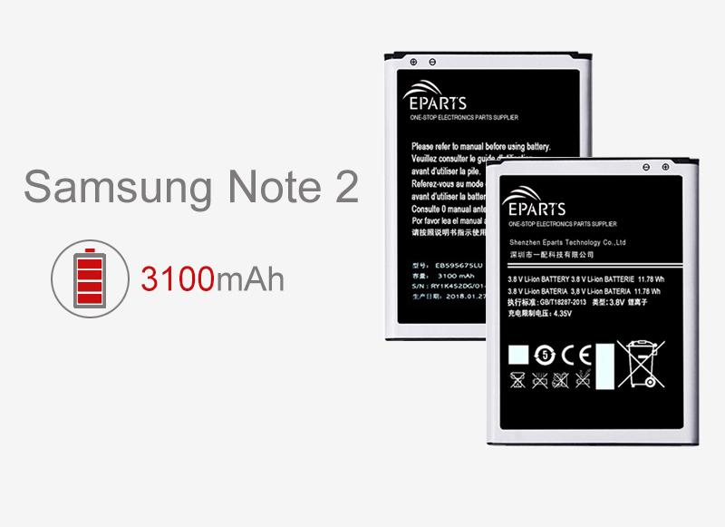 precio al por mayor de la batería de Samsung Note 2 de la fábrica